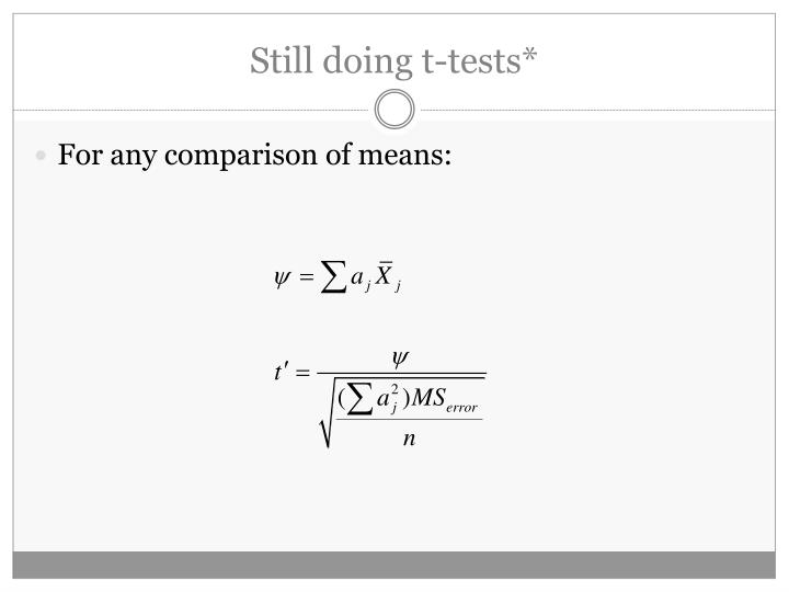 Still doing t-tests*