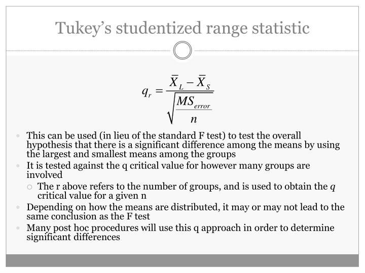 Tukey's studentized range statistic