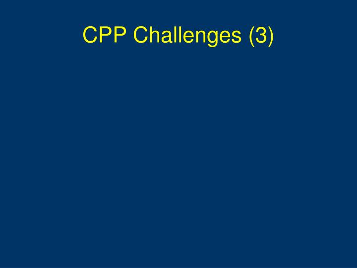 CPP Challenges (3)