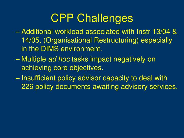 CPP Challenges