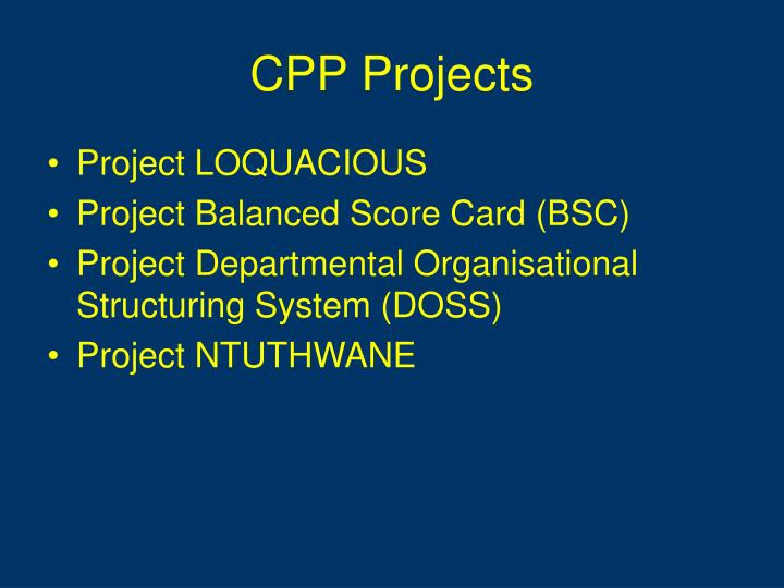 CPP Projects