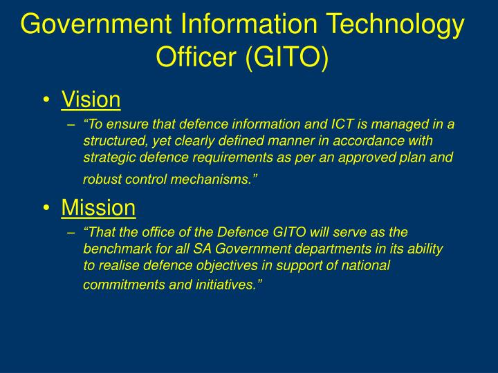 Government Information Technology Officer (GITO)