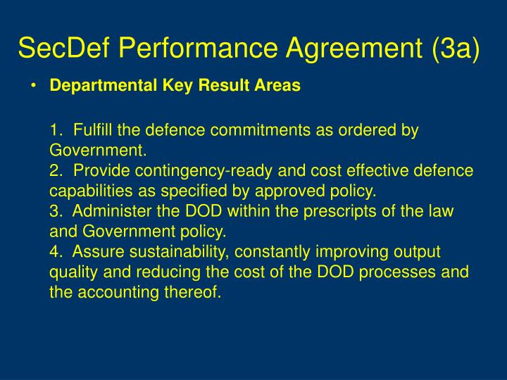 SecDef Performance Agreement (3a)