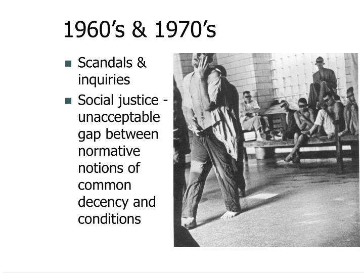 1960's & 1970's