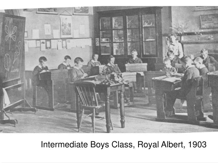 Intermediate Boys Class, Royal Albert, 1903