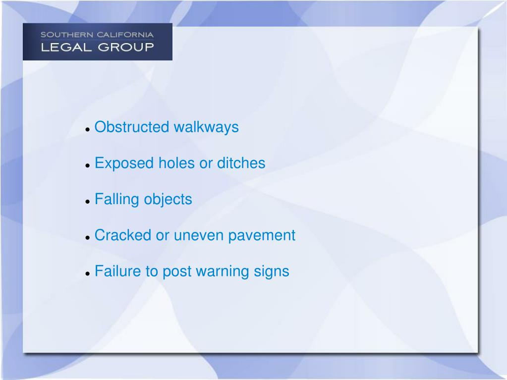 Obstructed walkways