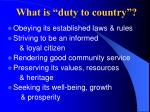 what is duty to country