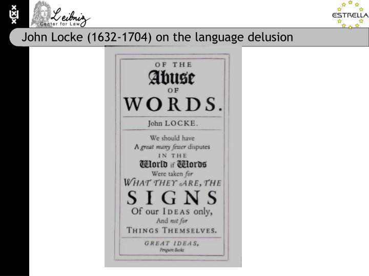 John Locke (1632-1704) on the language delusion