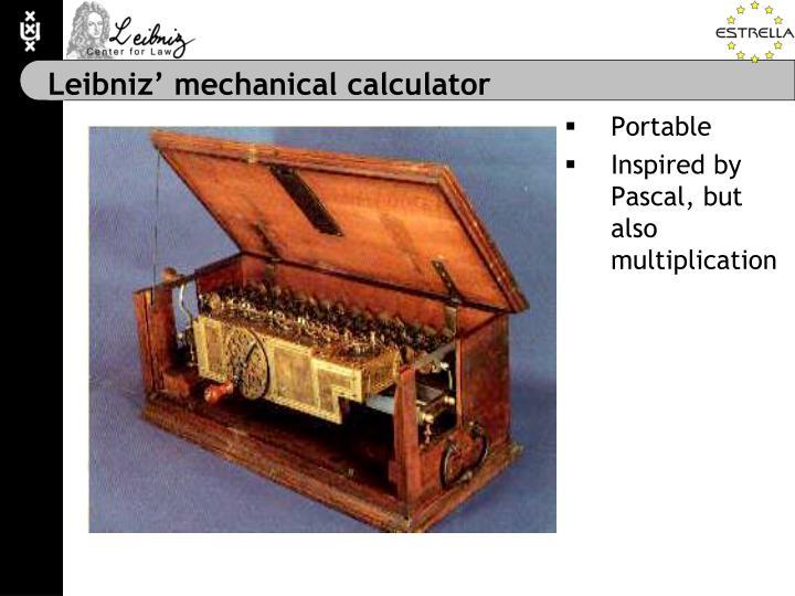 Leibniz' mechanical calculator
