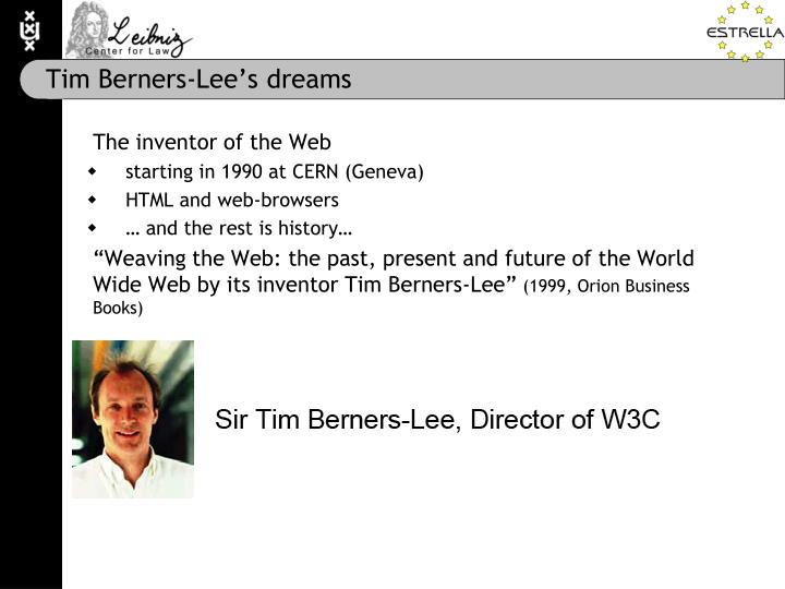 Tim Berners-Lee's dreams