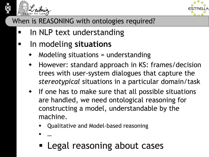 When is REASONING with ontologies required?