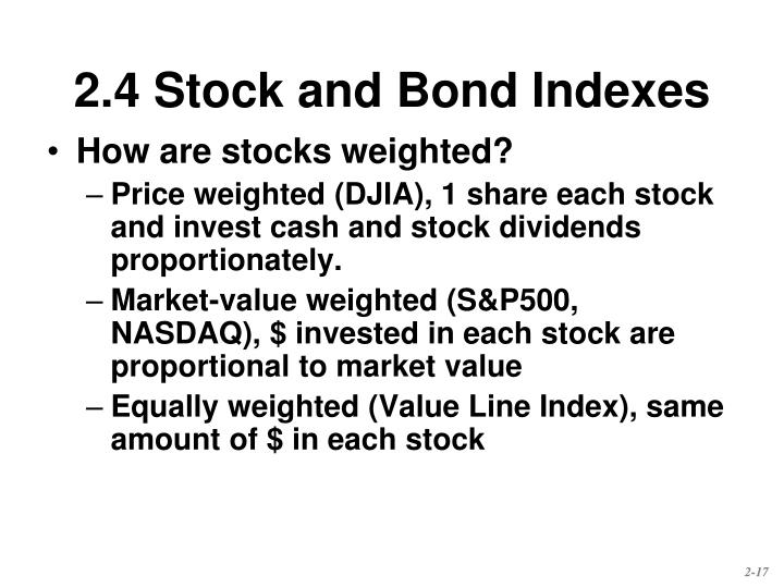 How are stocks weighted?