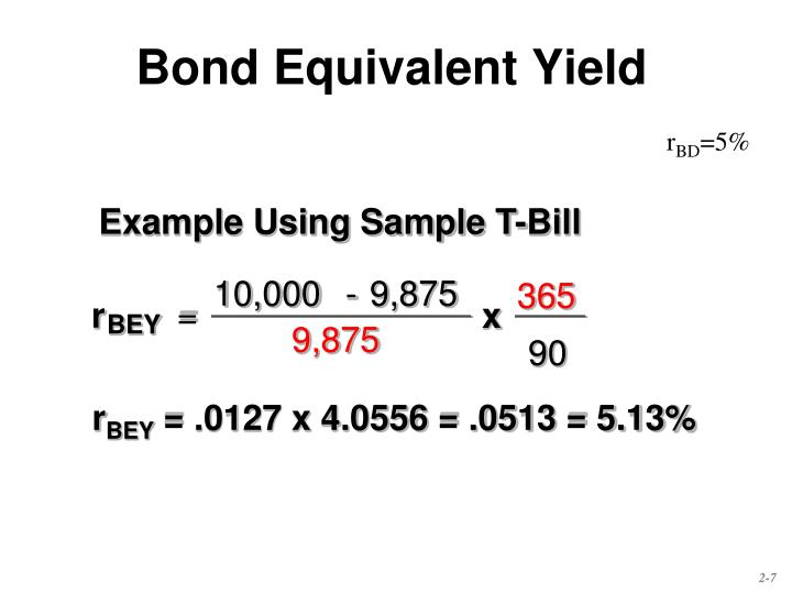 Bond Equivalent Yield