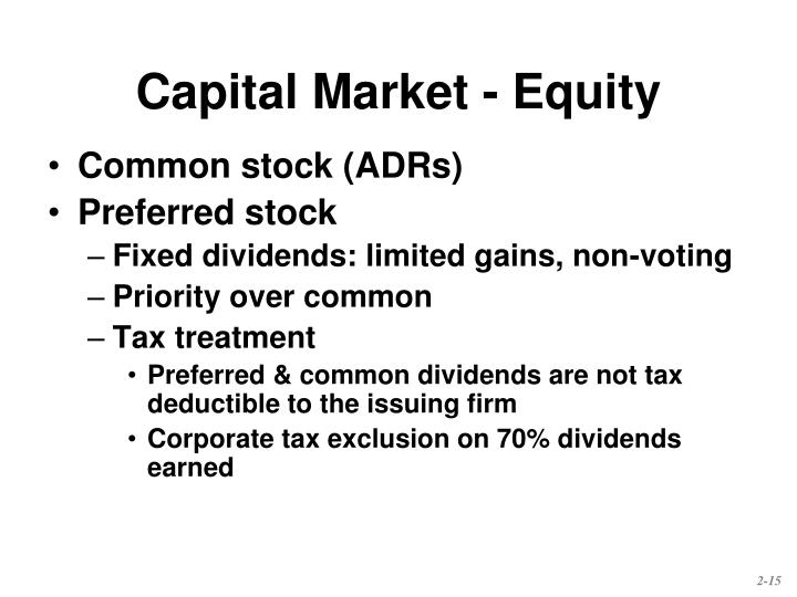 Capital Market - Equity