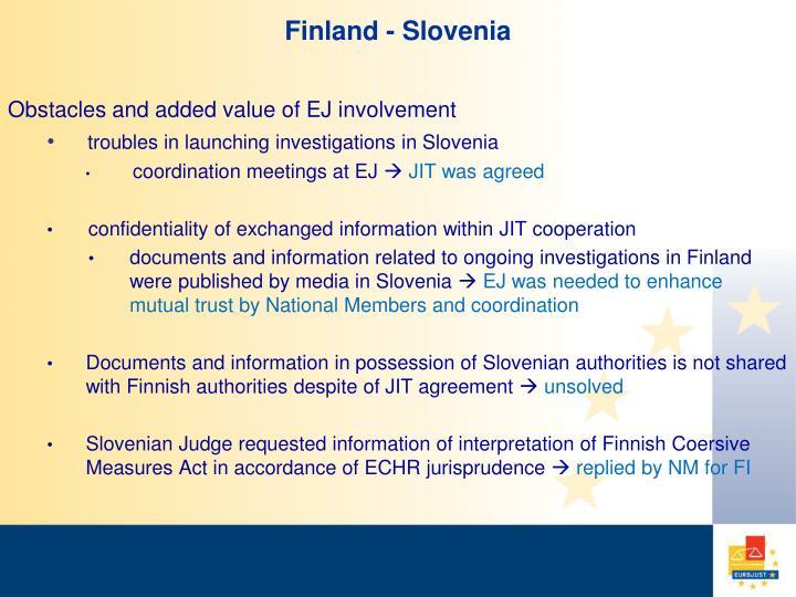 Finland - Slovenia