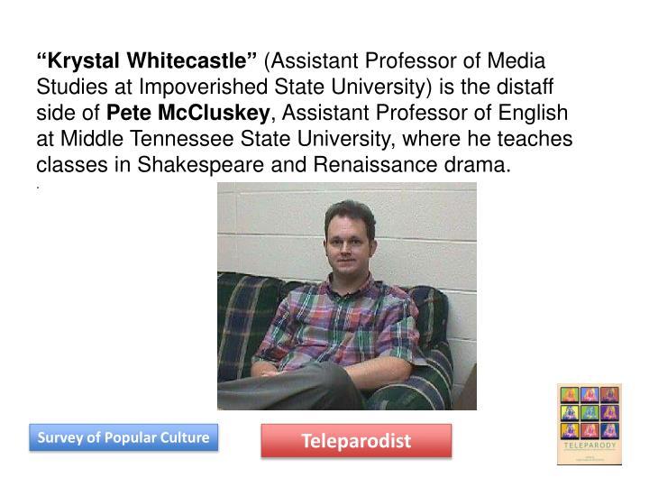 """Krystal Whitecastle"""