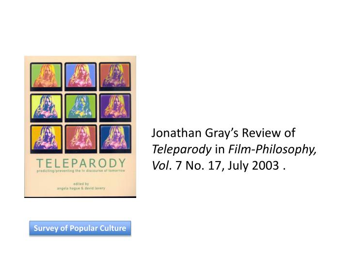Jonathan Gray's Review of