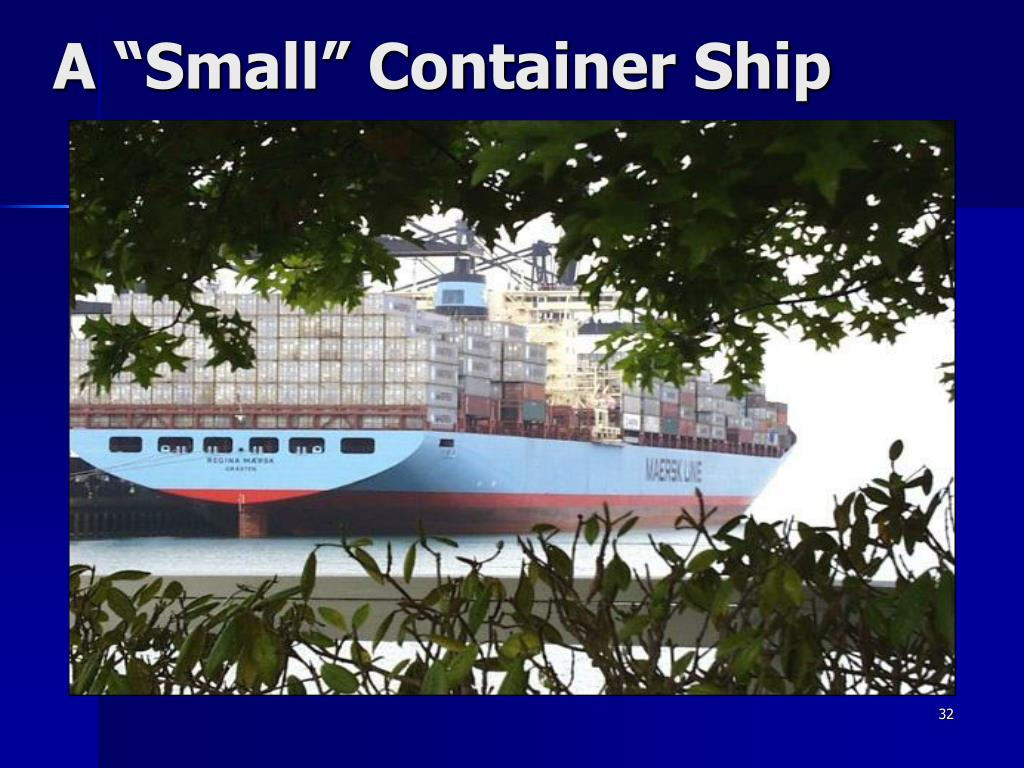 "A ""Small"" Container Ship"