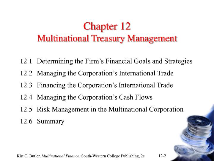 Chapter 12 multinational treasury management