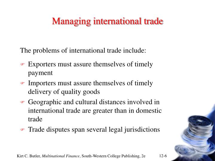 Managing international trade