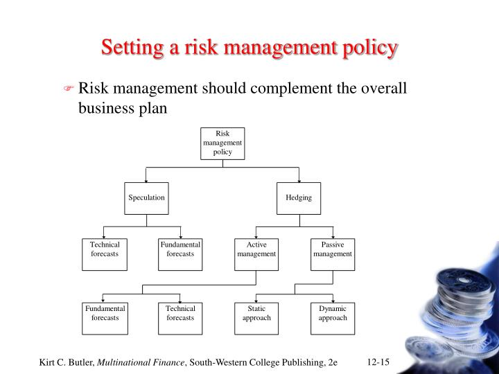 Setting a risk management policy