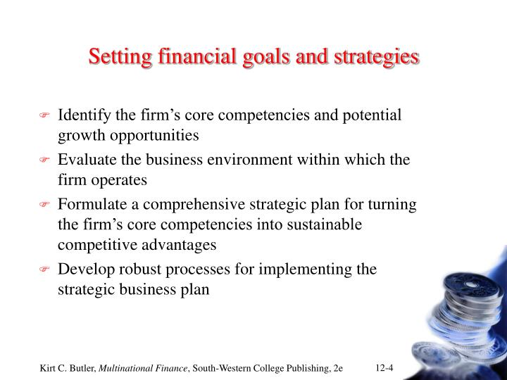 Setting financial goals and strategies