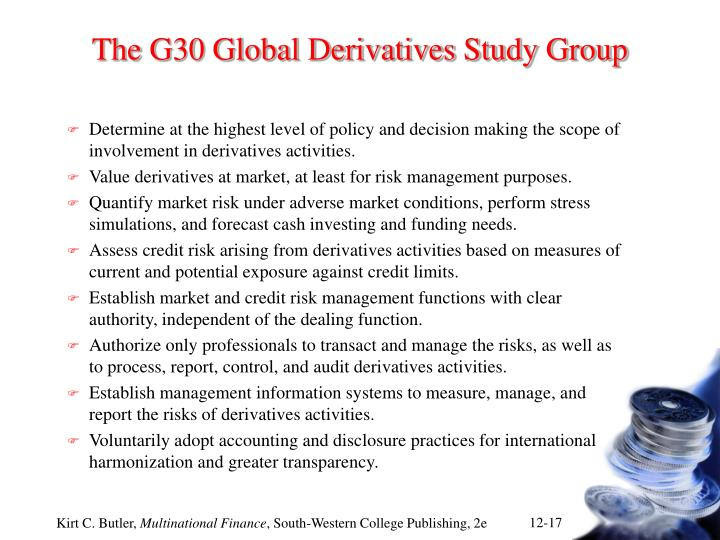 The G30 Global Derivatives Study Group