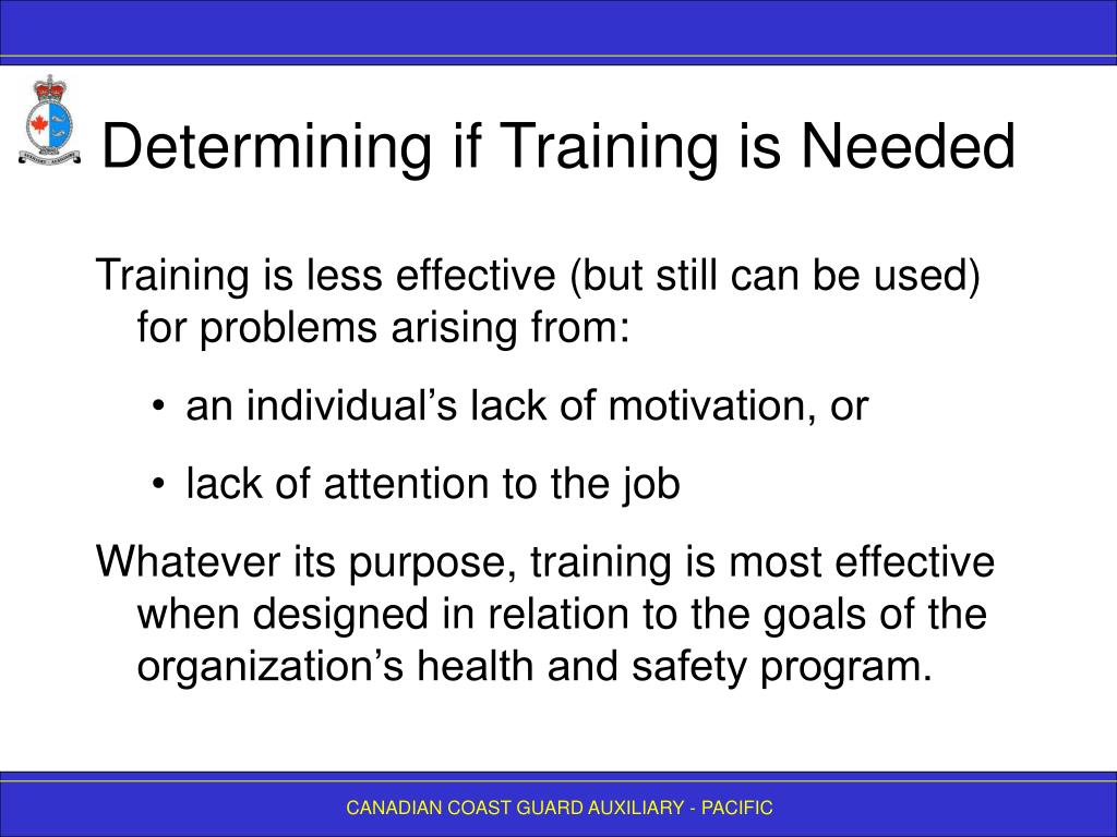 Determining if Training is Needed