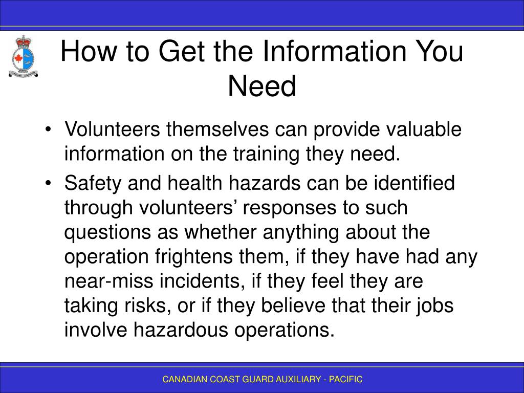 How to Get the Information You Need