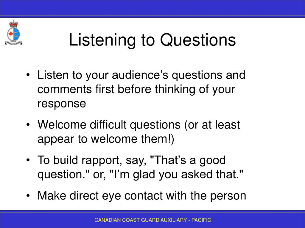 Listening to Questions