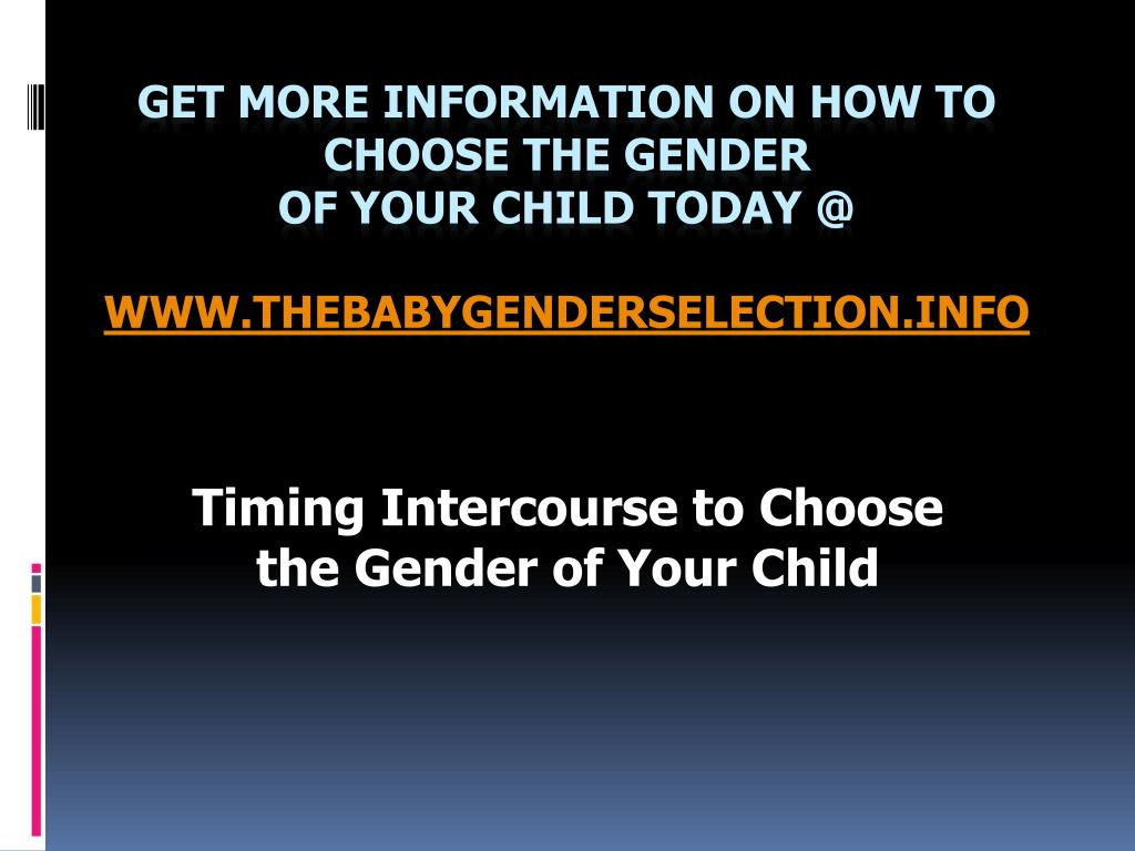 Timing Intercourse to Choose the Gender of Your Child