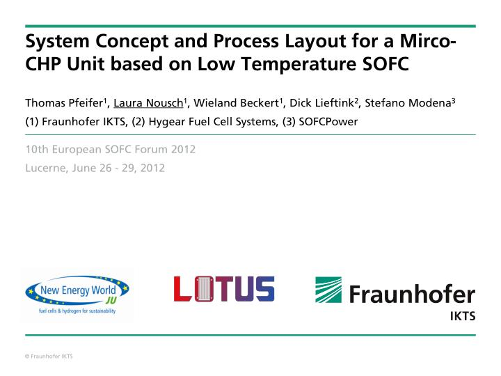 system concept and process layout for a mirco chp unit based on low temperature sofc