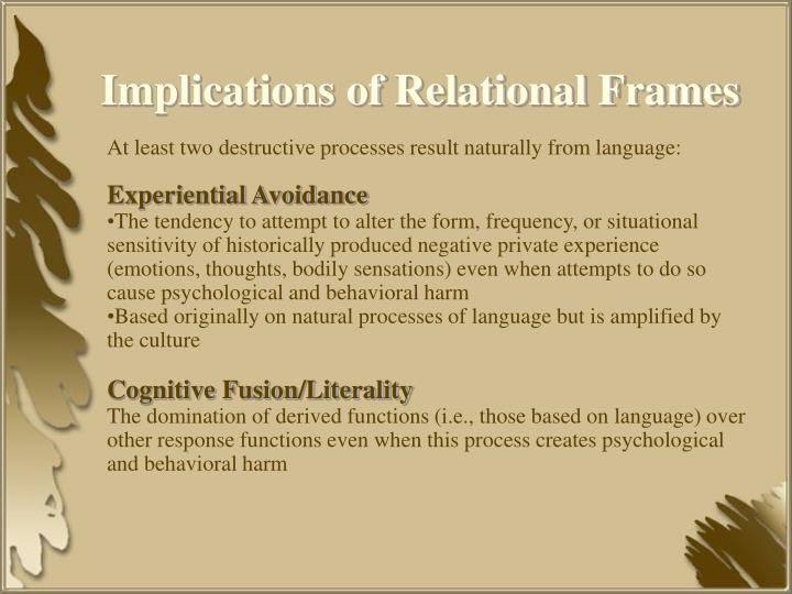 Implications of Relational Frames