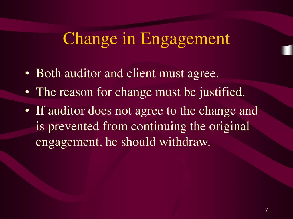 Change in Engagement
