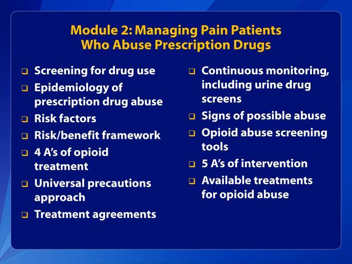 Module 2: Managing Pain Patients
