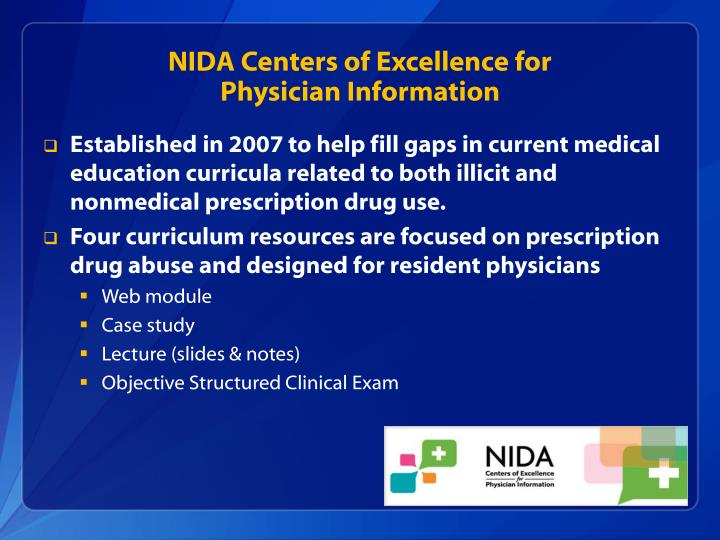 NIDA Centers of Excellence for