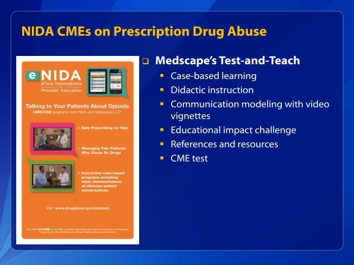 NIDA CMEs on Prescription Drug Abuse