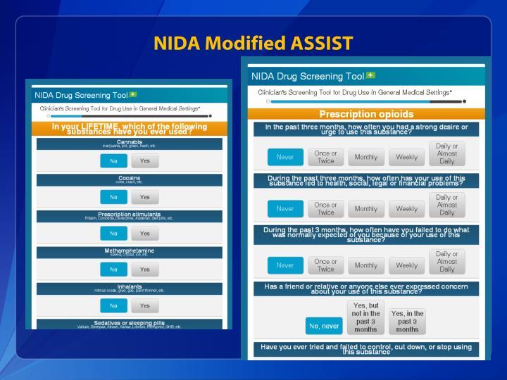 NIDA Modified ASSIST