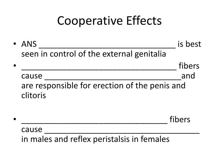 Cooperative Effects