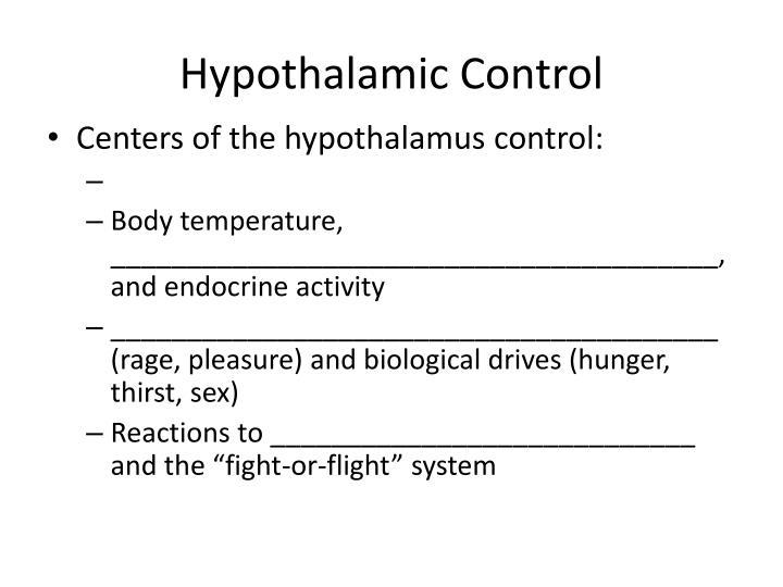 Hypothalamic Control