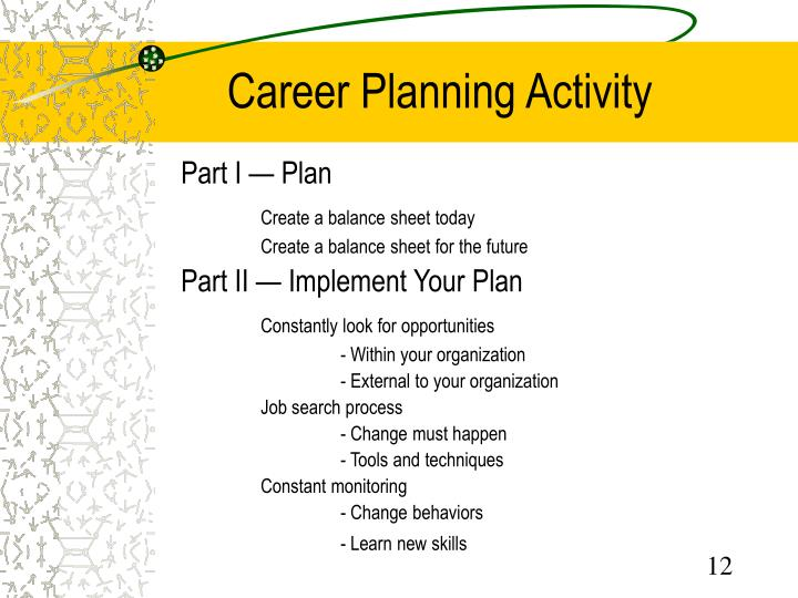 career development plan part iii Learning more about your company's goals and objectives may also be a part of  your professional development, particularly if you intend to remain with the.