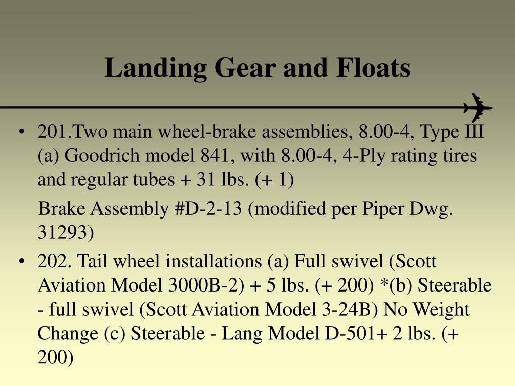 Landing Gear and Floats