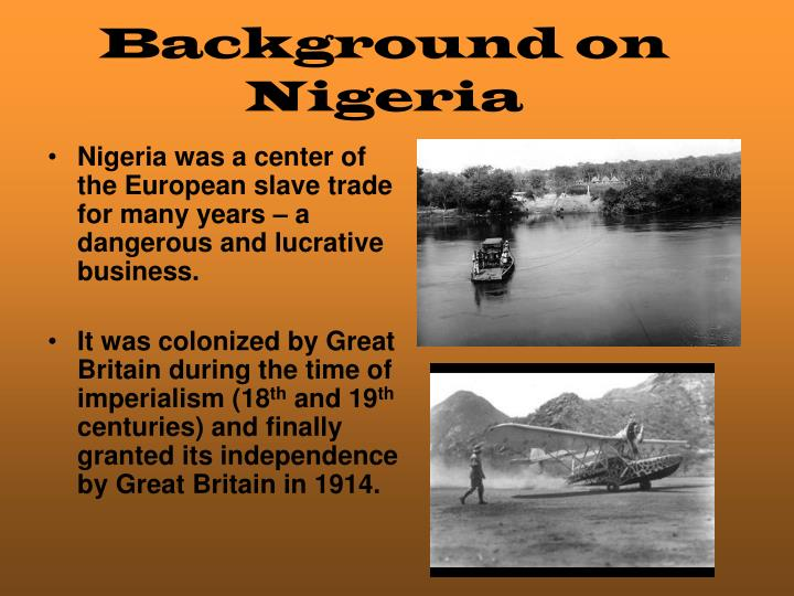 Background on Nigeria