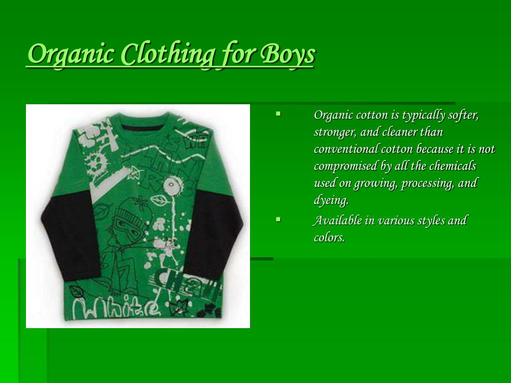 Organic Clothing for Boys