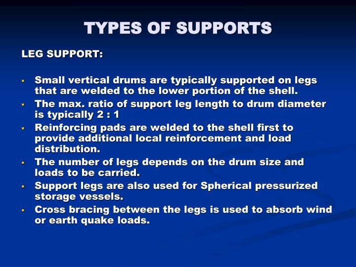 TYPES OF SUPPORTS