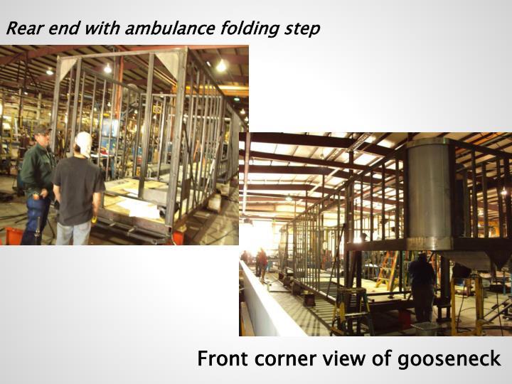 Rear end with ambulance folding step