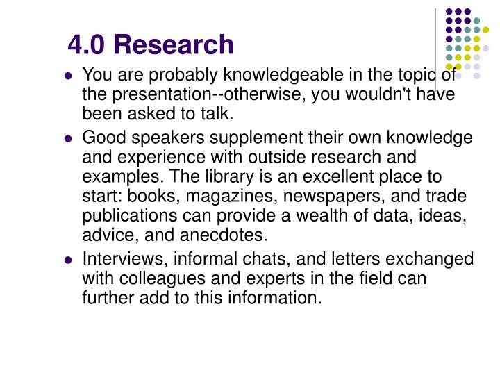 4.0 Research