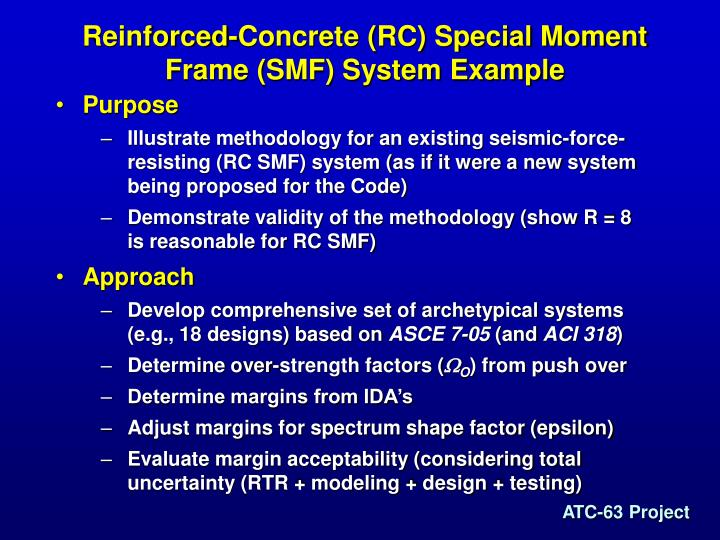 Reinforced-Concrete (RC) Special Moment Frame (SMF) System Example