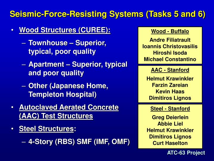 Seismic-Force-Resisting Systems (Tasks 5 and 6)