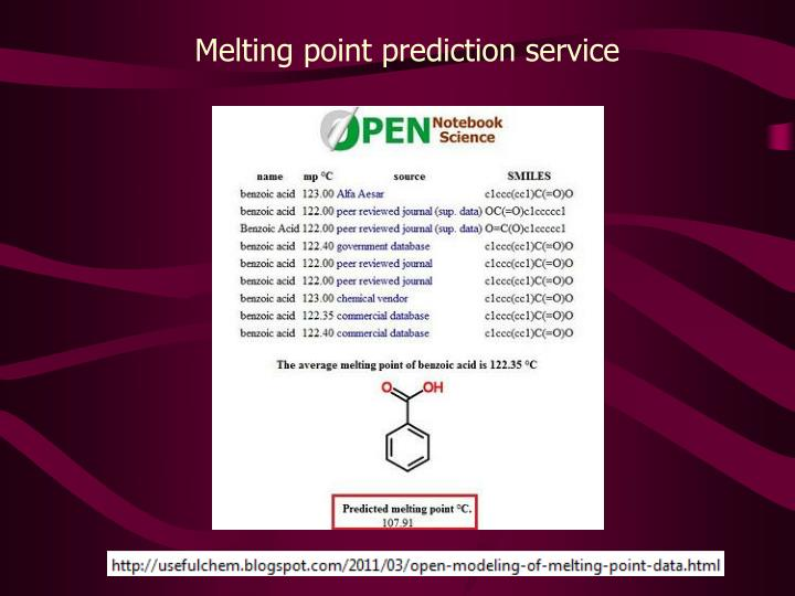 Melting point prediction service
